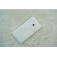 Оригинальный встраиваемый пластиковый матовый непрозрачный чехол для Microsoft Lumia 535 Белый