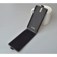 Глянцевый чехол вертикальная книжка на пластиковой основе с магнитной застежкой для OnePlus One