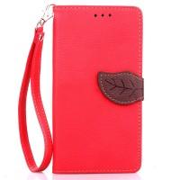 Текстурный чехол портмоне подставка на силиконовой основе с дизайнерской застежкой для OnePlus One Красный