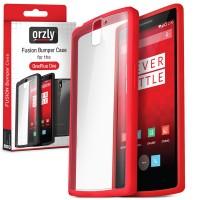 Двухкомпонентный противоударный премиум чехол силикон/поликарбонат для OnePlus One Красный