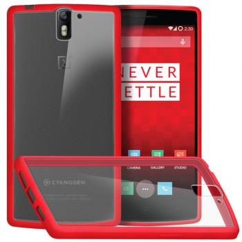 Двухкомпонентный противоударный премиум чехол силикон/поликарбонат для OnePlus One