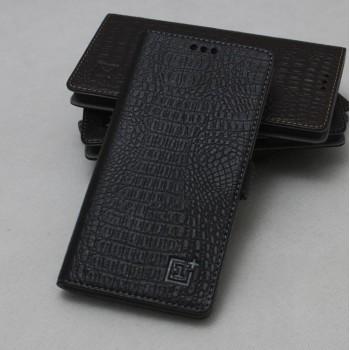 Кожаный чехол горизонтальная книжка (нат. кожа крокодила) подставка для OnePlus One