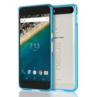 Металлический бампер для Google Huawei Nexus 6P Голубой