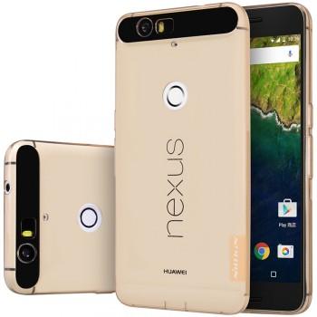 Силиконовый матовый полупрозрачный чехол повышенной защиты для Google Huawei Nexus 6P