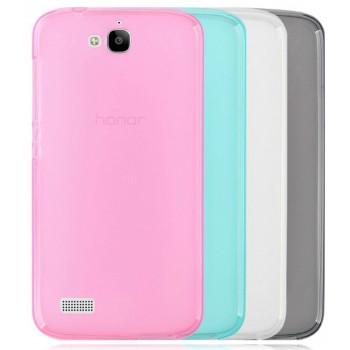 Силиконовый матовый полупрозрачный чехол для Huawei Honor 3C Lite