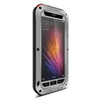 Эксклюзивный антиударный пылевлагозащищенный чехол металл/силикон/поликарбонат/закаленное стекло для Xiaomi MI5