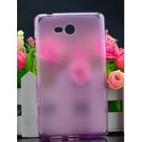 Силиконовый полупрозрачный чехол для Nokia Lumia 820 Розовый