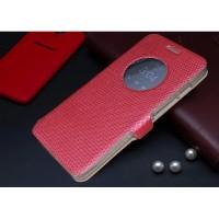 Чехол флип с активным окном и застежкой для ASUS Zenfone 5 Пурпурный
