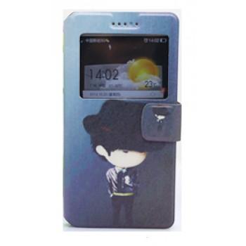 Дизайнерский чехол флип подставка с окном вызова и полноповерхностным принтом для Lenovo A2010