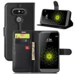 Чехол портмоне подставка на силиконовой основе с магнитной защелкой для LG G5