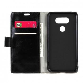 Глянцевый чехол портмоне подставка на силиконовой основе с магнитной защелкой для LG G5