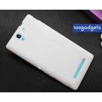 Силиконовый S чехол для Sony Xperia C3 Белый