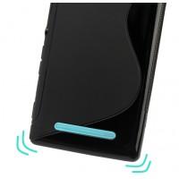 Силиконовый S чехол для Sony Xperia C3 Черный