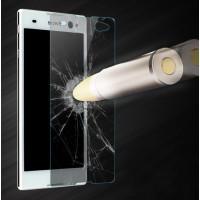 Ультратонкое износоустойчивое сколостойкое олеофобное защитное стекло-пленка для Sony Xperia C3