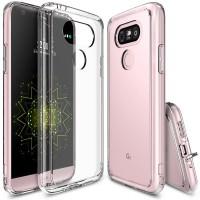 Силиконовый транспарентный премиум чехол максимальной противоударной защиты с клапанами разъемов для LG G5 Белый