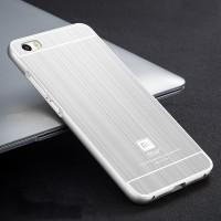 Двухкомпонентный чехол с металлическим бампером и поликарбонатной накладкой текстура Металл для Xiaomi MI5
