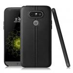 Силиконовый матовый непрозрачный чехол текстура Кожа для LG G5