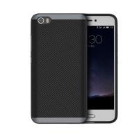 Гибридный противоударный чехол силикон/поликарбонат для Xiaomi MI5 Серый