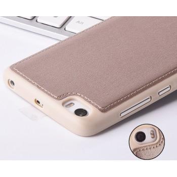 Силиконовый дизайнерский фигурный чехол текстура Кожа для Xiaomi MI5