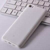 Силиконовый дизайнерский фигурный чехол текстура Кожа для Xiaomi MI5 Белый