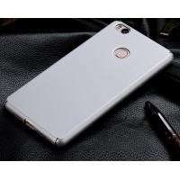 Пластиковый матовый непрозрачный чехол с защитой торцев для Xiaomi Mi4S Белый
