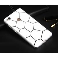 Двухкомпонентный чехол с металлическим бампером и текстурной поликарбонатной накладкой для Xiaomi Mi4S Белый