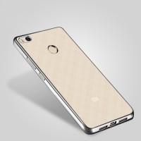 Силиконовый матовый полупрозрачный чехол с металлическим напылением для Xiaomi Mi4S Серый