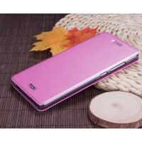 Чехол флип подставка на силиконовой основе текстура Металлик для Xiaomi Mi4S Пурпурный