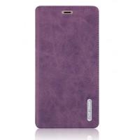 Винтажный чехол флип подставка на присоске с отделением для карты для Xiaomi Mi4S Фиолетовый