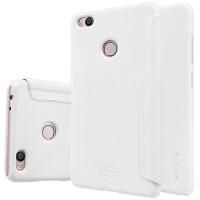 Чехол флип на пластиковой матовой нескользящей основе для Xiaomi Mi4S Белый