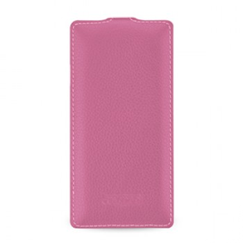 Кожаный смарт чехол вертикальная книжка (нат. кожа) для OnePlus 2