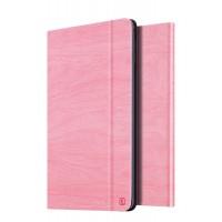 Чехол подставка на поликарбонатной основе текстура Дерево для Ipad Mini 4 Розовый