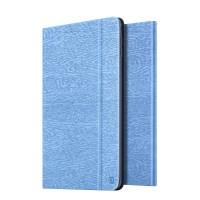 Чехол подставка на поликарбонатной основе текстура Дерево для Ipad Mini 4 Голубой