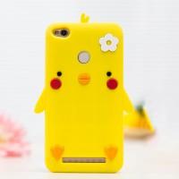 Силиконовый дизайнерский фигурный чехол для Xiaomi RedMi 3 Pro/3S Желтый