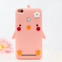 Силиконовый дизайнерский фигурный чехол для Xiaomi RedMi 3 Pro/3S Розовый