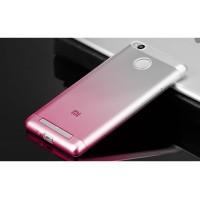 Силиконовый градиентный полупрозрачный чехол для Xiaomi RedMi 3 Pro/3S Красный