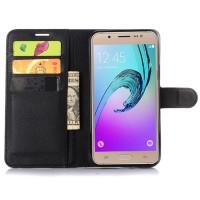 Чехол портмоне подставка на силиконовой основе с магнитной защелкой для Samsung Galaxy J7 (2016) Черный