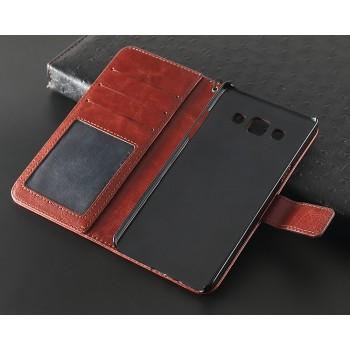 Чехол портмоне подставка на пластиковой основе с магнитной защелкой для Samsung Galaxy J7 (2016)