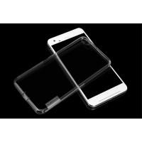 Силиконовый матовый полупрозрачный чехол повышенной защиты для HTC One X9 Серый