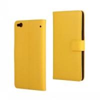 Чехол портмоне подставка с защелкой для HTC One X9 Желтый