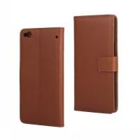 Чехол портмоне подставка с защелкой для HTC One X9 Коричневый
