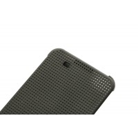 Чехол смарт флип текстура Точки с функциями оповещения для HTC One X9 Черный