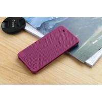 Чехол смарт флип текстура Точки с функциями оповещения для HTC One X9 Фиолетовый
