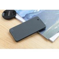 Чехол смарт флип текстура Точки с функциями оповещения для HTC One X9 Серый