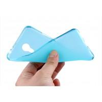Силиконовый матовый полупрозрачный чехол для Meizu M3 Note Голубой
