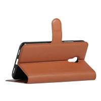 Чехол портмоне подставка с защелкой для Meizu M3 Note Коричневый
