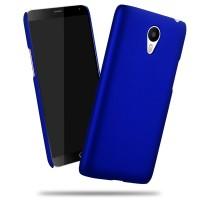 Пластиковый матовый непрозрачный чехол для Meizu M3 Note Синий