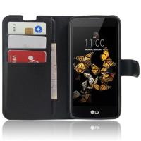 Чехол портмоне подставка с защелкой для LG K8 Черный
