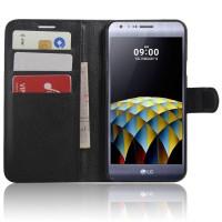 Чехол портмоне подставка с защелкой для LG X cam Черный