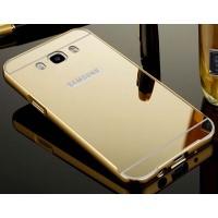 Гибридный металлический двухкомпонентный чехол и поликарбонатной крышкой с зеркальным покрытием для Samsung Galaxy J5 (2016)